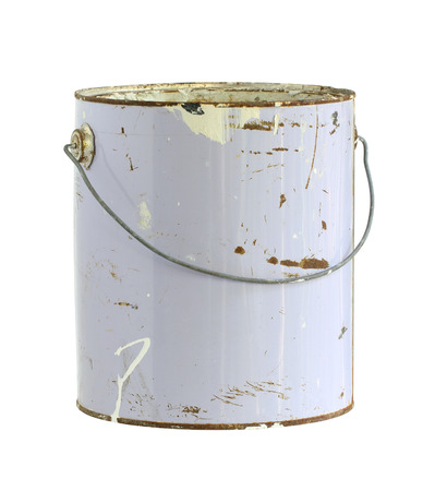 old container: Paint can (with clipping path) isolated on white background