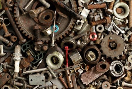 Pile of metal scrap background