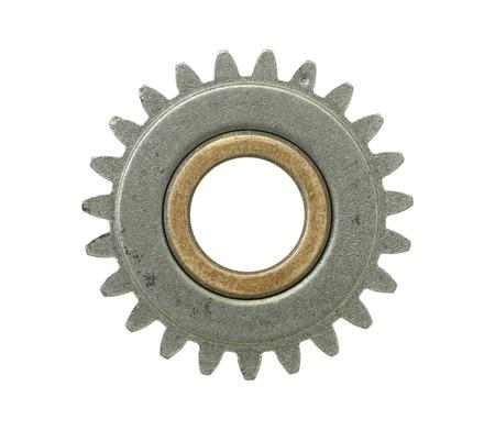engranes: Gear rueda aislados en fondo blanco  Foto de archivo