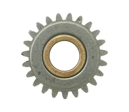 gear shape: Gear wheel isolated on white background