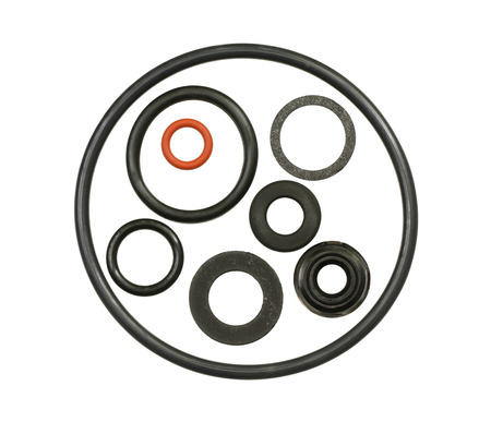O-ring gasket collection isolated on white background