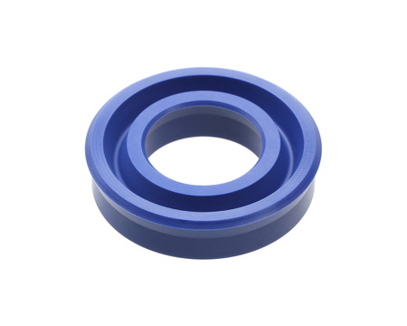 Hydraulic piston seal isolated on white background