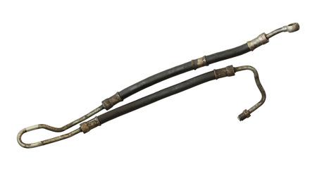hydraulic hoses: Power steering hose isolated on white background