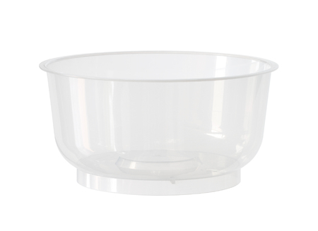 Plastic bowl (with clipping path) isolated on white background