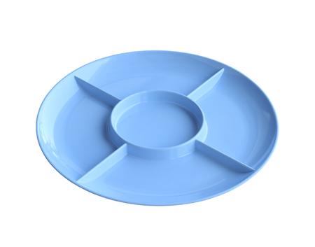 Melamine divided tray isolated on white background