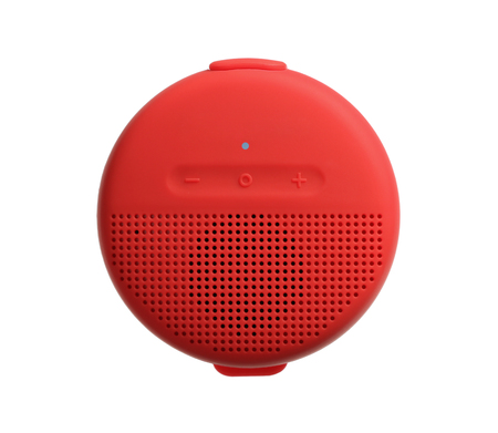 Bluetooth wireless speaker for smartphone isolated on white background Stock Photo