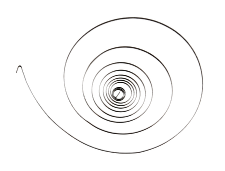 Spiral roll spring (with clipping path) isolated on white background