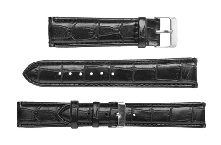 Leather wrist watch strap (with clipping path) isolated on white background