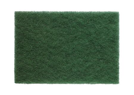 Scrub pad green isolated on white background
