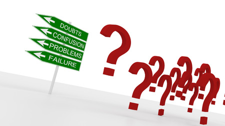 Question marks and the road to problems