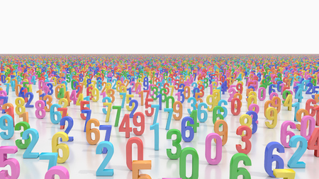 Field covered by endless colored numbers