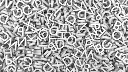 Alphabet letters white