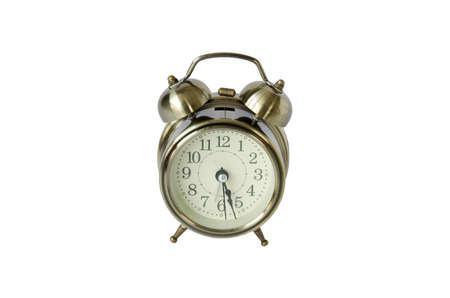 alarmclock: Alarm-clock on white background Stock Photo