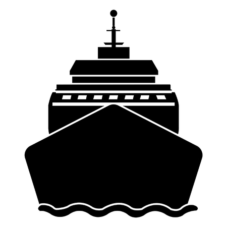 Boat from front view Illustration