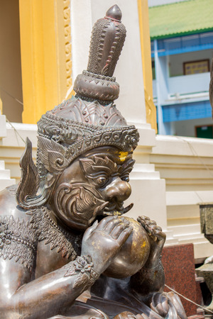 hermit  sculpture stone in thailand temple