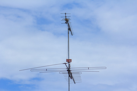 receiver: television pole receiver, analog system Stock Photo