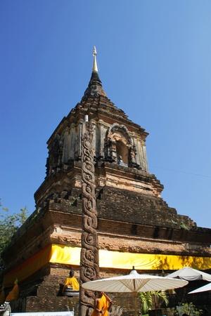 molee: Pagoda of  Wat Lok Molee, Chiang Mai, north of Thailand  Stock Photo