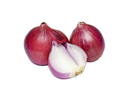 red onion isolated on white  photo