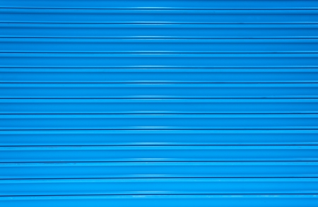 steel blue: Blue paint Corrugated Metal for textured background  Stock Photo