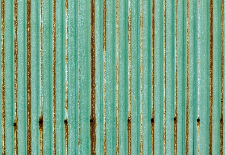 corrugated iron: Green corrugated iron metal  for background