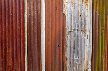 Rusty corrugated iron metal background  photo
