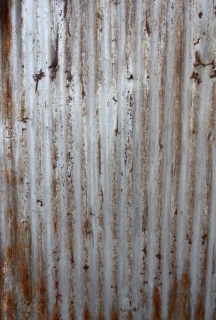 corrugated iron: A rusty corrugated iron metal texture