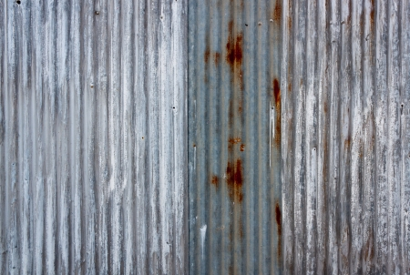hangar: A rusty corrugated iron metal texture
