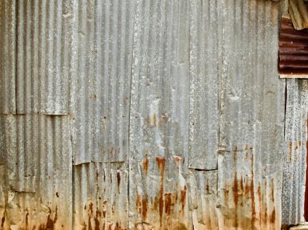 zinc: Old zinc fence background  Stock Photo