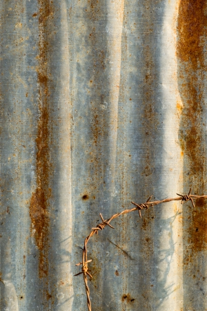 rusty corrugated metal background, can use for background photo