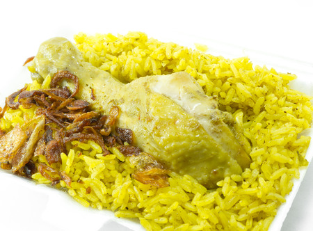 Curry Chicken Rice, indian food photo