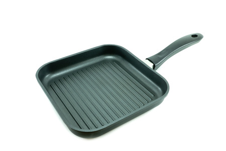nonstick: Non-Stick grill pan isolated on white background Stock Photo