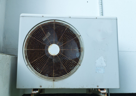 units: Outdoor Units of Air Conditioner ,Old Stock Photo