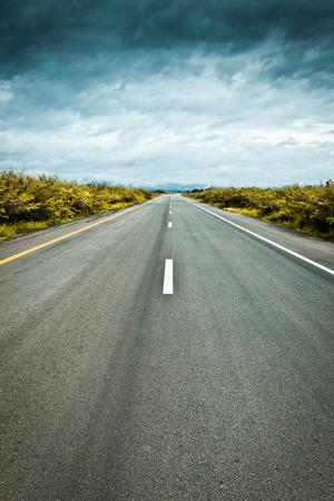 asphalt road Banco de Imagens