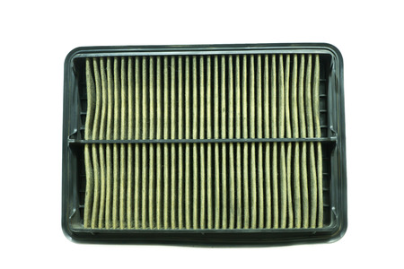 dirty car: Dirty car air filter after used on white background
