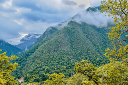 mea: mountains under mist in the morning, Mea Hong Son Province, North of thailand Stock Photo