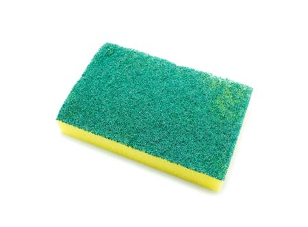 dishwashing: Sponges for dishwashing on white background, Scotch Brite dishwashers Stock Photo