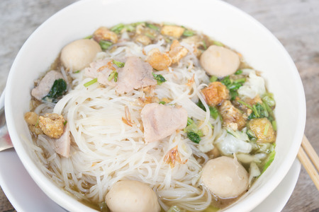 thai noodle soup: Thai noodle soup, famous food northern style