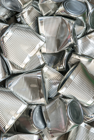 tin cans: tin cans for recycling, abstract background