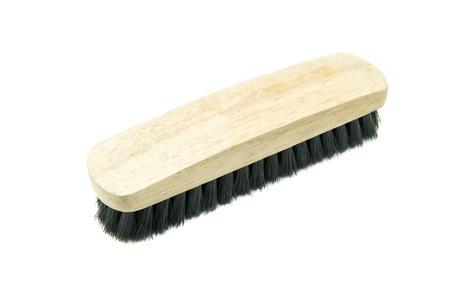 broom handle: washing brush on white background