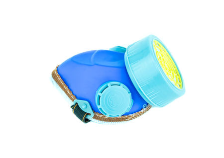 Dust mask on white background, Safety industrial equipment