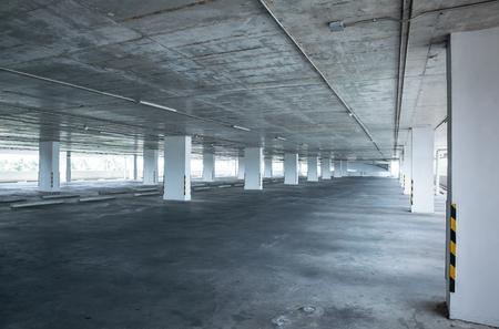 Empty car parking , Indoor car parking
