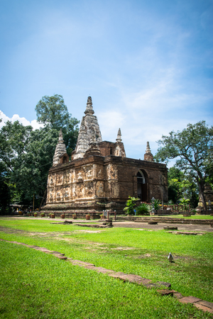 The Maha chedi of Wat Chet Yot,  Buddhist temple in Chiang Mai in northern Thailand