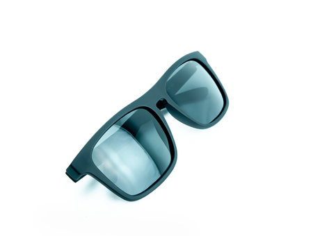 black sunglasses on white background, for protect your eye from sunlight