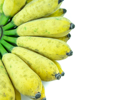 Cultivated banana on a white background Banco de Imagens