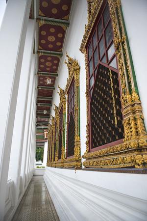 Loha Prasat Metal Palace. Public temple in Bangkok, Thailand.