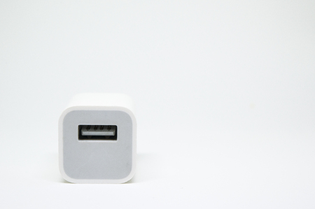 Usb charger plug isolated on a white background