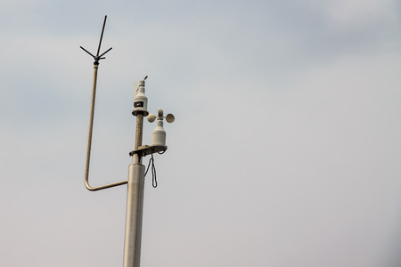 anemometer: Anemometer located outside the home  To measure the wind speed of the village