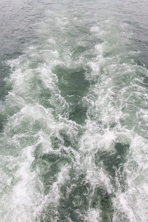 Tides are caused by cruise ship