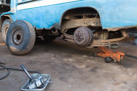 Truck Repair, a service garage. Reklamní fotografie