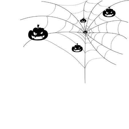 Pumpkin on a spider web.